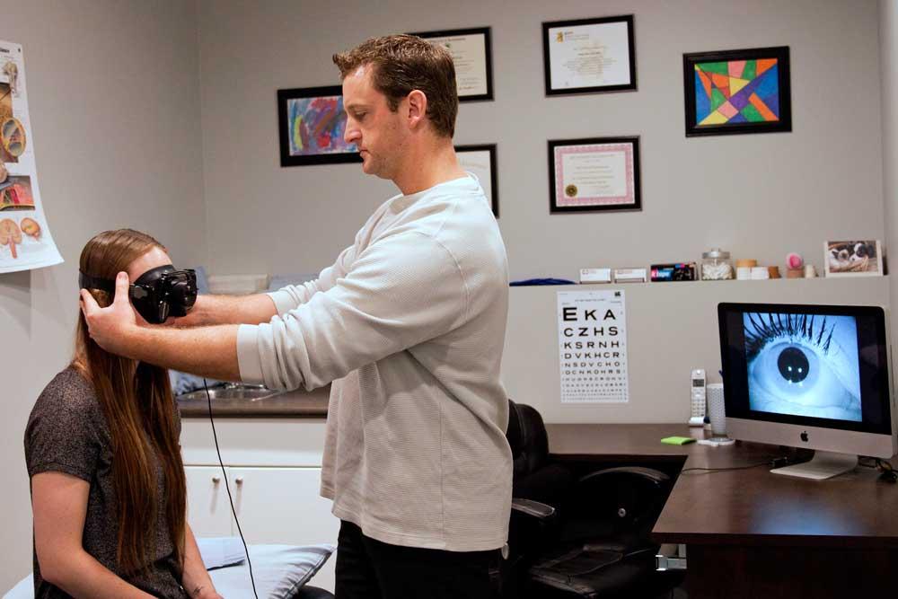 Vestibular therapist helps treat vertigo and feelings of dizziness with VNG